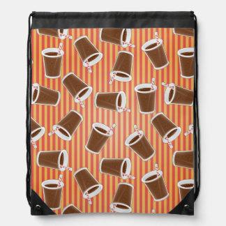 Fast food pattern drawstring bag