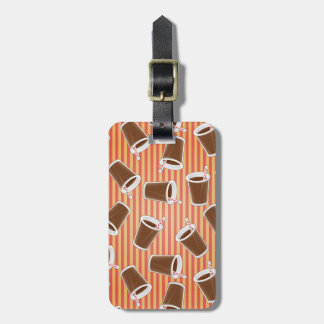 Fast food pattern luggage tag