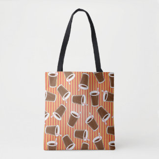 Fast food pattern tote bag