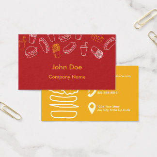 Fast Food Restaurant Business Cards