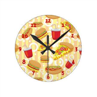 Fast Food Round Clock