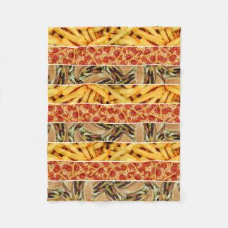 Fast Food Stripes Fleece Blanket
