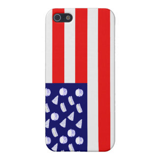 Fast Food USA Flag - Junk Food and Stripes iPhone 5/5S Case