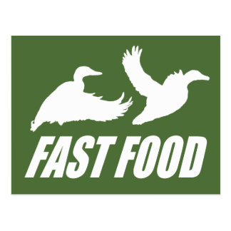Fast food water fowl w post cards