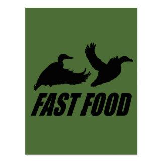 Fast food waterfowl post card