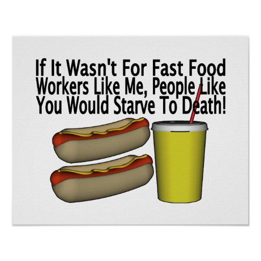Fast Food Worker Poster
