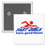 Fast Girls Square Button