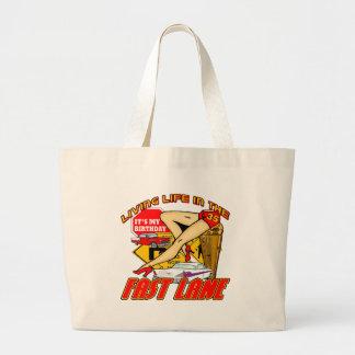 Fast Lane 35th Birthday Gifts Jumbo Tote Bag