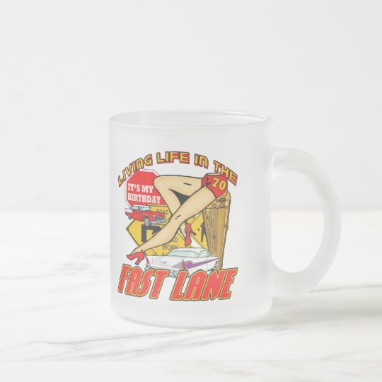 Fast Lane 70th Birthday Gifts Frosted Glass Coffee