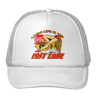 Fast Lane 70th Birthday Gifts Trucker Hats