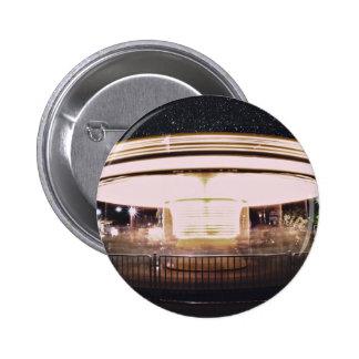 Fast-motion merry-go-round at night 6 cm round badge
