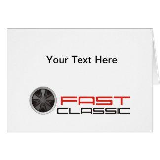 Fast motorsport classic: Fuchs racing car wheel Cards