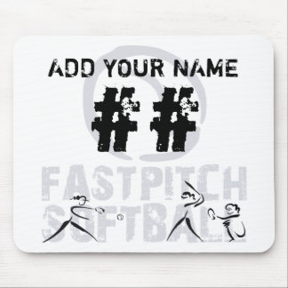 Fast Pitch Softball Mouse Pad