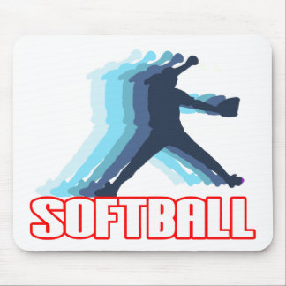 Fast Pitch Softball Silhouette Mouse Mat