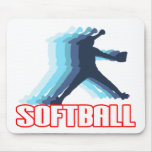 Fast Pitch Softball Silhouette Mouse Pads