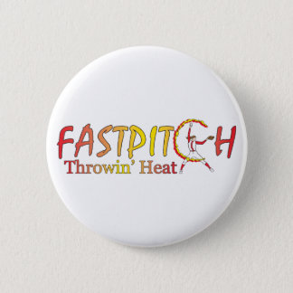 Fast Pitch Softball Version 2 6 Cm Round Badge