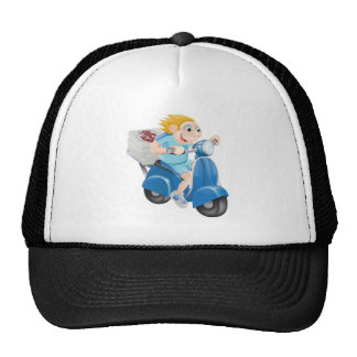 Fast pizza delivery man trucker hats
