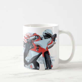 Fast Red Speedway Motorcycle Coffee Mug