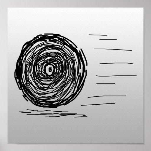 Fast. Rush. Symbol in Black on Gray. Print