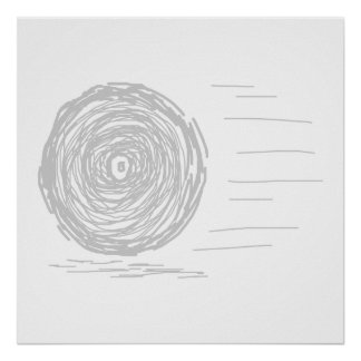Fast. Rush. Symbol in Gray on White. Print