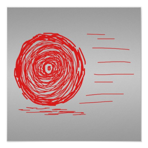 Fast. Rush. Symbol in Red on Gray. Posters