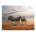 FAST STAGECOACH by SHARON SHARPE Postcard