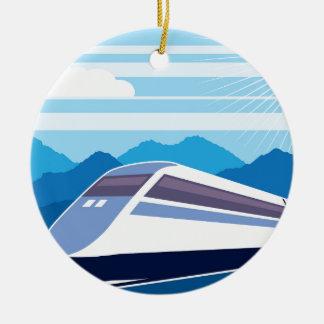 Fast Train Christmas Ornament