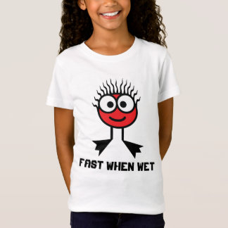 Fast When Wet - Red Swim Character T-Shirt