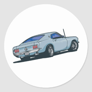 Fastback Round Sticker