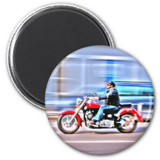 Fastbiker 6 Cm Round Magnet