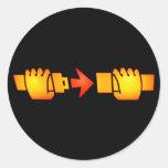 Fasten Seat Belt Sign Round Stickers