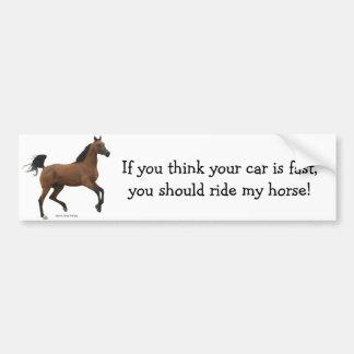 Faster Horse Bumper Sticker