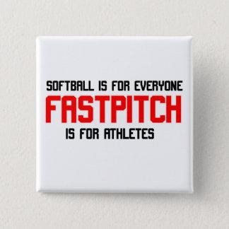 FastPitch 15 Cm Square Badge