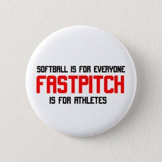 FastPitch 6 Cm Round Badge