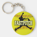 Fastpitch Basic Round Button Key Ring
