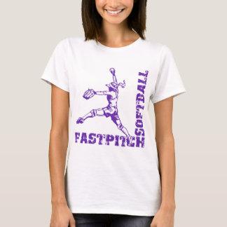 Fastpitch Corner, purple T-Shirt