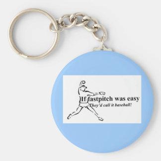 Fastpitch Keychain