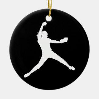 Fastpitch Silhouette Ornament Black