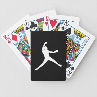 Fastpitch Silhouette Playing Cards Black