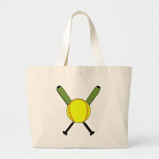 Fastpitch Softball and Crossed Bats Bag