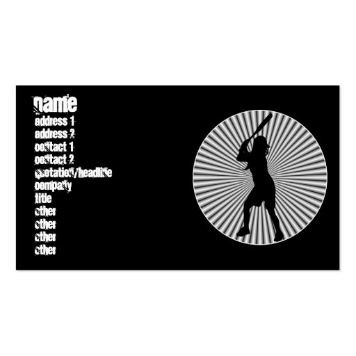 Fastpitch Softball Batter Profile Cards Business Card