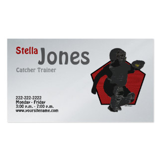 Fastpitch Softball Catcher's Profile Cards Pack Of Standard Business Cards