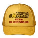 fastpitch-softball-clipart-11_small, Play Hard,... Cap