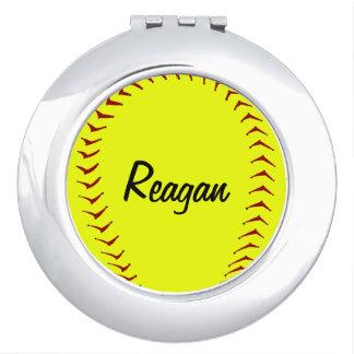Fastpitch Softball Compact Mirror