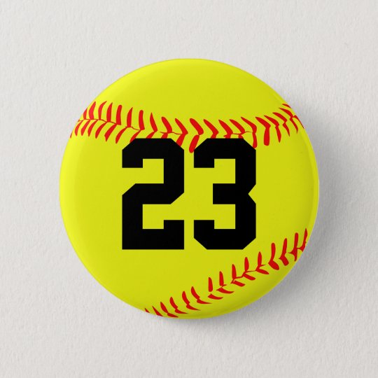 Fastpitch Softball Customisable Button Pin