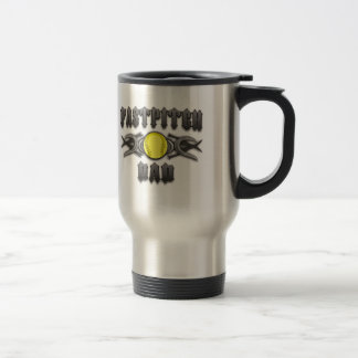 Fastpitch Softball Dad Tribal Travel Mug
