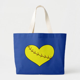 Fastpitch Softball Heart Tote Bag