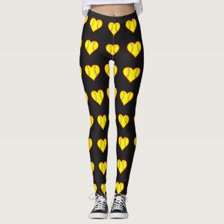 Fastpitch Softball Hearts Leggings Pants