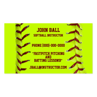 Fastpitch Softball Instructor Business Card