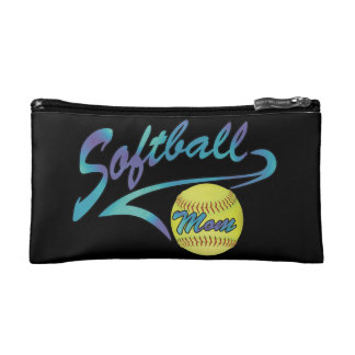 Fastpitch Softball Mom Athletic Tail Cosmetic Bag